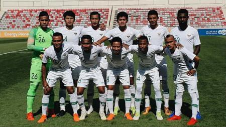 Skuat Timnas Indonesia dalam pertandingan persahabatan kontra Yordania. - INDOSPORT