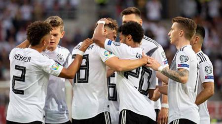Selebrasi para pemain Jerman. - INDOSPORT