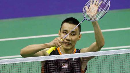Pemain andalan Malaysia, Lee Chong Wei, menjadi idola bintang muda Manchester United. On Man Kevin Lee/Getty Images. - INDOSPORT