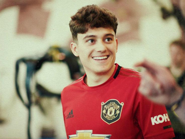 Rekrutan pertama Manchester United Daniel James di Liga Primer Inggris (Premier League) 2019/2020. Copyright: Twitter/@ManUtd