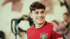 Indosport - Rekrutan pertama Manchester United Daniel James di Liga Primer Inggris (Premier League) 2019/2020.