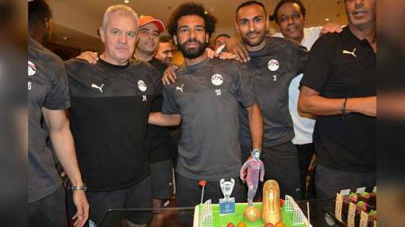 Jelang Piala Afrika 2019, Timnas Mesir ikut merayakan gelar juara Liga Champions 2018/19 yang diperoleh Mohamed Salah bersama Liverpool. - INDOSPORT