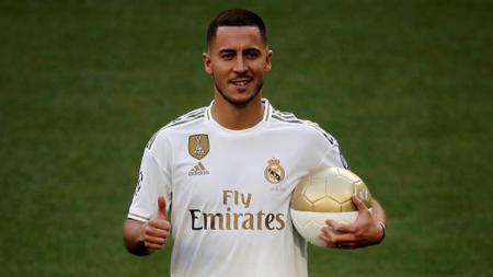 Pemain Real Madrid, Eden Hazard, dianggap hamper sejajar bintang Barcelona, Lionel Messi. Anadolu Agency/GettyImages. - INDOSPORT