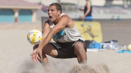 Pemain voli pantai, Eric Zaun. Foto: volleyballmag/VBshots - INDOSPORT