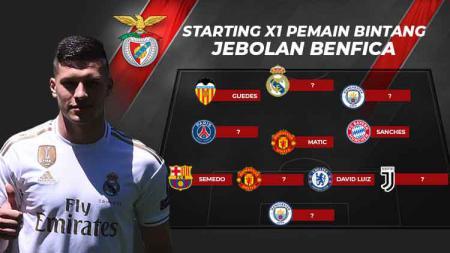 Starting XI pemain bintang jebolan Benfica. - INDOSPORT