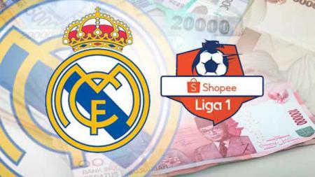 Logo Real Madrid, dan liga 1 2019 - INDOSPORT