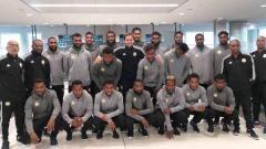 Indosport - Skuat timnas Vanuatu jelang laga melawan timnas Indonesia.