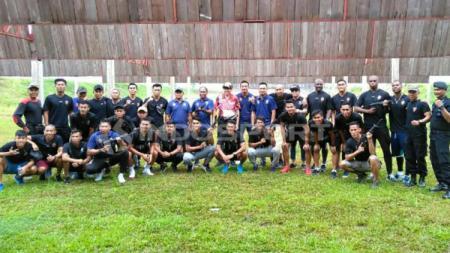 Skuat Sriwijaya FC mempersiapkan diri jelang kick-off Liga 2 2019. (Foto: Muhammad Effendi/INDOSPORT) - INDOSPORT
