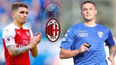 Indosport - Lucas Torreira atau Rade Krunic, mana yang cocok untuk AC Milan. Foto: Gabriele Maltinti/Graham Wilson/Getty Images