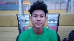 Indosport - Amiruddin Bagas Kaffa saat mengikuti pemusatan latihan Timnas Indonesia U-19 di Stadion Wibawa Mukti, Cikarang.