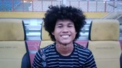 Amiruddin Bagus Kahfi saat mengikuti pemusatan latihan di Stadion Wibawa Mukti, Cikarang.