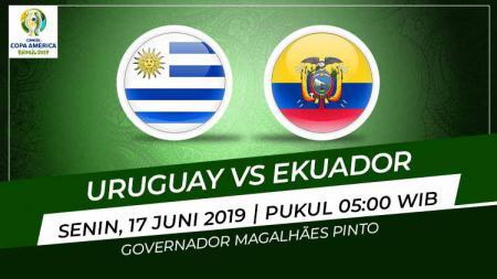 Pertandingan Uruguay vs Ekuador. Grafis: Eli/Indosport.com - INDOSPORT