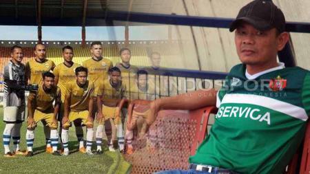 Pelatih Persib B, Liestiadi. Foto: Ghozi el Fitra/Indosport - INDOSPORT