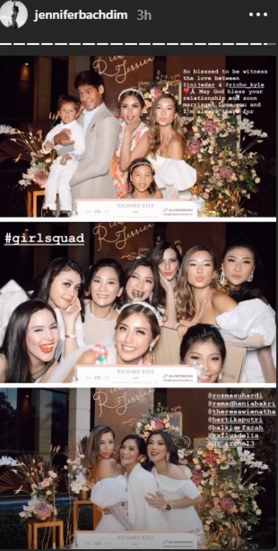 Tunangan Jessica Iskandar Jadi Momen Reuni Jennifer Bachdim dengan Girlsquad Copyright: instagram.com/inijedar/