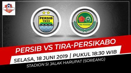 Pertandingan Persib Bandung vs Tira-Persikabo. Grafis: Eli/Indosport.com - INDOSPORT