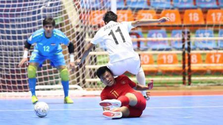 Timnas Futsal Indonesia U-20 saat berhadapan dengan Irak di Piala AFC Futsal U-20 2019, Minggu (16/6/19). - INDOSPORT