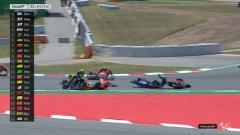 Indosport - Jorge Lorenzo jadi biang kerok kecelakaan di tikungan 10 pada MotoGP Catalunya, Minggu (16/06/2019).