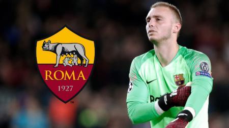 Kiper Barcelona, Jasper Cillessen dikabarkan sedang diminati oleh AS Roma di bursa transfer musim panas 2019. (Foto: Jeroen Meuwsen/Soccrates/Getty Images) - INDOSPORT