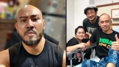 Indosport - Deddy Corbuzier memberikan dukungan kepada Agung Hercules yang terkena kanker otak