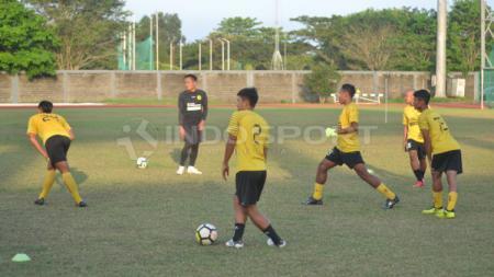 Skuat Sriwijaya FC terus fokus berlatih jelang Kick-off Liga 2 2019. (Muhammad Effendi/INDOSPORT) - INDOSPORT
