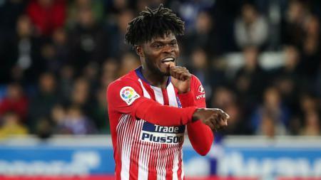 Pemain Atletico Madrid, Thomas Partey, jadi salah satu bintang LaLiga yang ikut meriahkan Piala Afrika 2019. - INDOSPORT