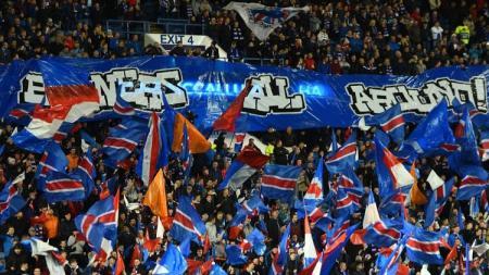 Ilustrasi penggemar Glasgow Rangers. - INDOSPORT