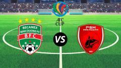 Indosport - Ilustrasi logo Becamex Binh Duong vs PSM Makassar.