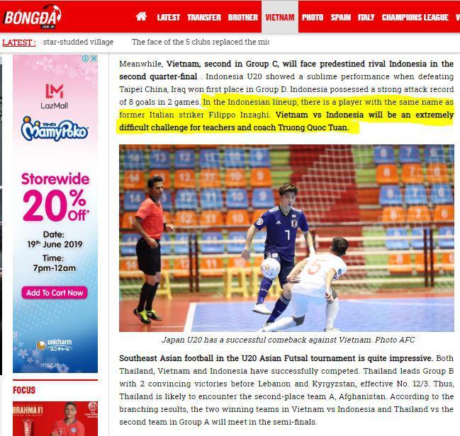 Media Vietnam akui Indonesia lawan yang sulit Copyright: Bongda