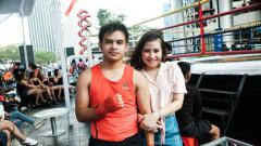 Indosport - Prilly Latuconsina bersama sang adik yang ternyata seorang petinju, Raja Latuconsina