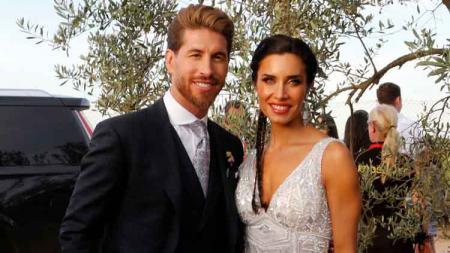 Pilar Rubio mengirimkan pesan cinta kepada sang suami, Sergio Ramos, yang juga legenda Real Madrid. - INDOSPORT