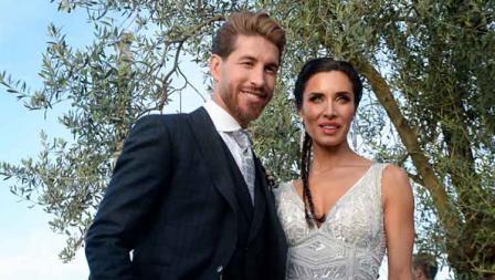 Sergio Ramos menggelar pesta pernikahan dengan presenter televisi asal Spanyol, Pilar Rubio.