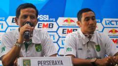 Indosport - Djadjang Nurdjaman dan M Syaifuddin saat konfrensi pers.