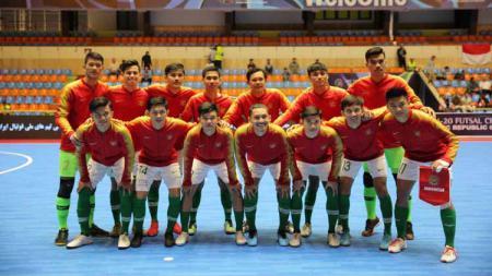 Skuat Timnas Futsal Indonesia U-20 di Piala AFC Futsal U-20 2019. Foto: Ical/FFI - INDOSPORT