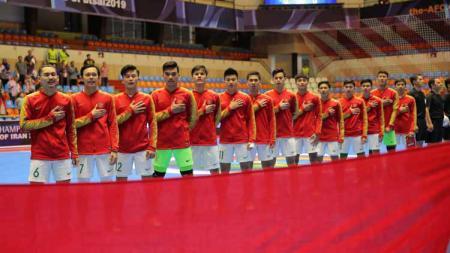 Skuat Timnas Futsal Indonesia U-20 di Piala AFC Futsal U-20 2019. Foto: Ical/FFI. - INDOSPORT