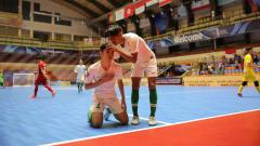 Indosport - Timnas Fotsal Indonesia saat melawan Timnas futsal Vietnam. Foto: Ical/FFI