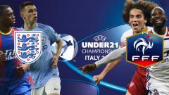 Indosport - 7 Wonderkid yang akan tampil dalam pertandingan Euro U-21 2019 antara Inggris vs Prancis. (Foto: UEFA.com/INDOSPORT)