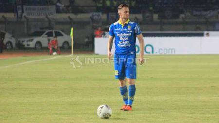 Pemain Persib Bandung, Rene Mihelič. Foto: Arif Rahman/INDOSPORT - INDOSPORT