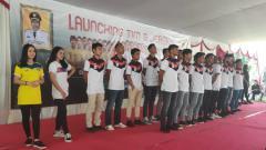 Indosport - Launching jersey anyar Cilegon United.