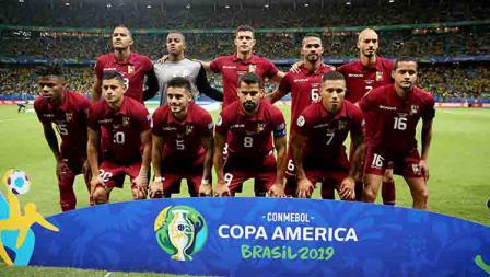 Skuat timnas Venezuela dalam laga Copa America 2019 fase grup di Arena Fonte Nova, Rabu (19/06/19).