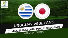 Indosport - Prediksi pertandingan Copa America 2019 antara Uruguay vs Jepang.