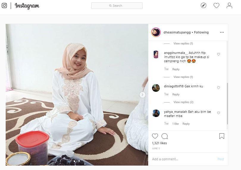 Pose Dhea Simatupang, kekasih dari Diego Michiels di Instagram pribadinya Copyright: instagram.com/dheasimatupangg