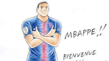 Kylian Mbappe dikabarkan menjadi sebuah tokoh dalam komik Captain Tsubasa - INDOSPORT