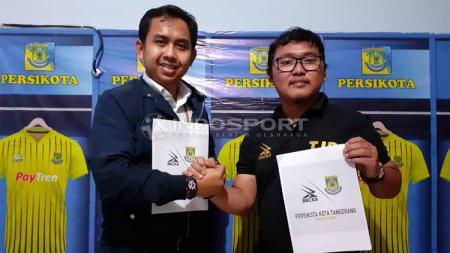 Arungi Liga 3, Persikota gandeng Apparel Lokal. Foto: Zainal Hasan/INDOSPORT - INDOSPORT