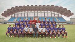 Indosport - Persita Tangerang saat memperkenalkan tim secara resmi.