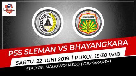 Pertandingan PSS Sleman vs Bhayangkara FC. Foto: Grafis: Indosport.com - INDOSPORT