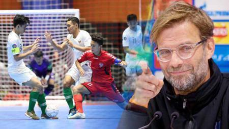 Ada 'andil Jurgen Klopp' di balik kekalahan Timnas Futsal Indonesia U-20 di semifinal Piala AFC melawan Afghanistan. Foto: the-afc.com - INDOSPORT