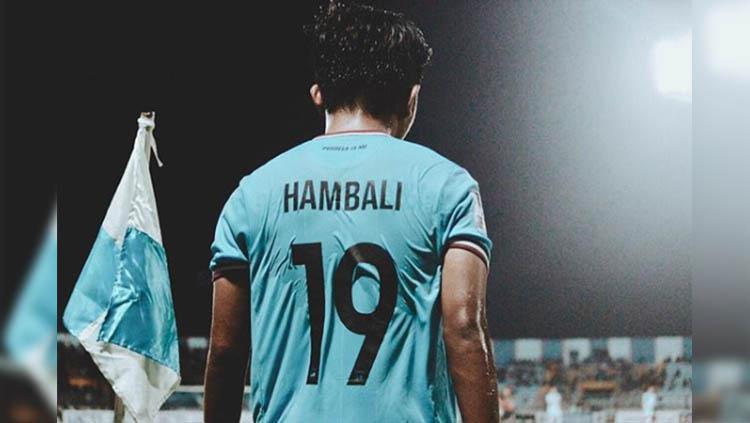 Pemain Persela Lamongan Muhammad Hambali Tolib. Copyright: Instagram/@8hambali