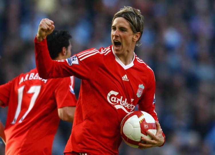 Fernando Torres melakukan selebrasi di masa-masa kejayaannya bersama Liverpool Copyright: Alex Livesey/Getty Images