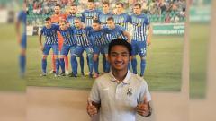 Indosport - Pemain Persela Lamongan Muhammad Hambali Tolib saat trial di NK Lokomotiva Zagreb.