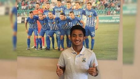 Pemain Persela Lamongan Muhammad Hambali Tolib saat trial di NK Lokomotiva Zagreb. - INDOSPORT